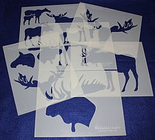 Buy Moose Stencils 6 Pc Set -Mylar 14 Mil Painting/Crafts/Stencil/Template