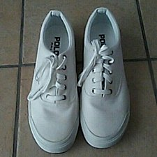 Buy VINTAGE RALPH LAUREN POLO SPORT WHITE ATHLETIC MENS SHOES