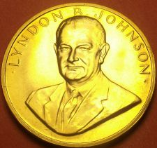 Buy Gem Unc Lyndon B. Johnson Presidential Bronze Inauguration Medallion~Free Ship