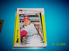 Buy ORLANDO CEPEDA CARDINALS 1982 TOPPS KMART 20TH ANNIVERSARY #12 OF 44