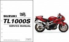 Buy 1997-2001 Suzuki TL1000S Repair Service & Parts Manual CD --- TL 1000S 1000 S