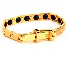 Buy ELECTRIFIED FEEL BETTER EJNP-P021 GOLD PLATED Bracelet 16 Germanium Stones
