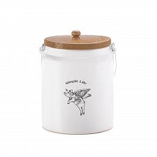 Buy *17455U - Flying Pig White Dolomite Storage Canister Simple Life