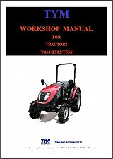 Buy TYM T433 T503 T553 Tractor Service Manual on a CD - T 433 503 553