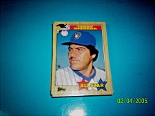 Buy TEDDY HIGUERA 1987 Topps #615 All Star HOF BREWERS free shipping