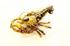 Buy Lobster enamelled and Diamante encrusted hinged trinket box or Pill box
