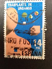 Buy Spain 1 v used stamp 1982 on Organ Transplants Thematic Healthcare