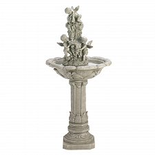 Buy 33631U - Playful Cherubs Granite Look Finish Water Fountain Yard Art