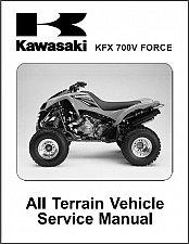 Buy Kawasaki KFX 700V Force 700 ATV Service & Parts Manual on a CD - KFX700 V