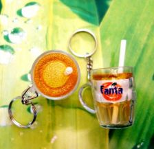Buy YELLOW FANTA 1 Cute MINI CUP PLASTIC KEYCHAINS GIFT CUTE BUY 1 GET 1 FREE