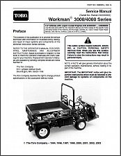 Buy TORO Workman 3000 / 4000 Series UTV Utility Vehicles Service Repair Manual CD