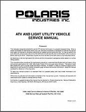 Buy 96-98 Polaris ATV Service Repair Manual CD - Trail Big Boss Scrambler Sportsman