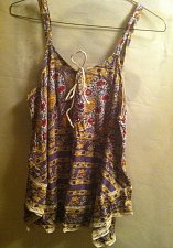Buy Lucky Brand Women's Lace Trim Tank Top, Multi, XL NWT`s
