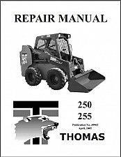 Buy Thomas 250 255 Skid Steer Loader Service Repair Workshop Manual CD