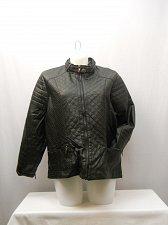 Buy Women Motorcycle Jacket Plus Size 3X Solid Black Front Zip