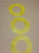 Buy 3 PIECE SET headband Set 3 Flex spider hair comb teeth accordion stretch Yellow