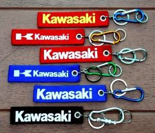Buy KAWASAKI Screen Embroidered Fabric Keychain Tag Motorcycle multiple colors.