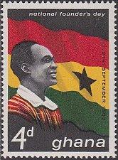 Buy Ghana 1963 stamp set of 2 Founder's Day, , Nkrumah's 54th birthda