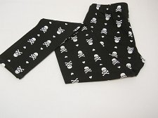 Buy Women Skull Leggings Black Halloween Gothic SIZE XL Skinny Legs Mid Rise