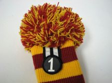 Buy Rocket Tour Knit Pompom Driver 1 Wood Headcover Trojan Red/Yellow USC New