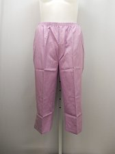 Buy SIZE 18P Women Capris Solid Purple Straight Leg Pockets Elastic Waist Inseam 20