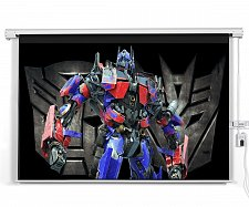"""Buy Electrified 100"""" 4:3 Motorized Projection Screen with Wireless Remote"""