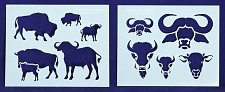 Buy Buffalo/Bison Stencils- 2 Pc Set- 8 x 10 -14 mil Mylar Painting/Crafts