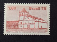 Buy Brazil 1978 1v MNH stamp Mi1666 Restoration of the college church