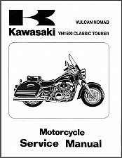 Buy 1998-2001 Kawasaki Vulcan 1500 Nomad / VN1500 Classic Tourer Service Manual CD