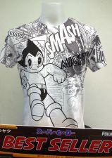 Buy Astro boy White Cotton T-Shirt Super Hero Tezuka Production Free Shipping