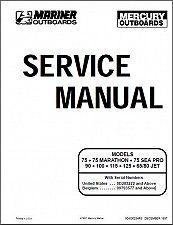 Buy Mercury / Mariner 135 • 150 OPTIMAX DIRECT FUEL INJECTION Service Manual on a CD