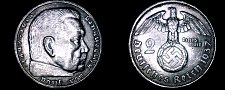 Buy 1937-A German 2 Reichsmark World Silver Coin - Germany 3rd Reich
