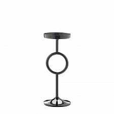 "Buy *17573U - 14"" Small Circle Black Aluminum Pillar Pedestal Candle Stand"