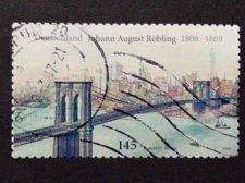 Buy Germany used 1v Johann August Roebling Röbling engineer of Brooklyn Bridge Hudso