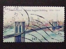 Buy Germany used 1v Johann August Roebling Röbling engineer of Brooklyn Bridge Hudso