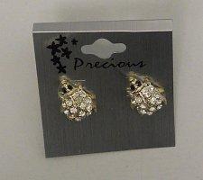 Buy Women Fashion Bug Stud Earrings Gold Tones Rhinestone PRECIOUS Push Backs