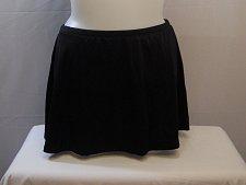 Buy SIZE 16 Women Swim Skirt BEACH BELLE Solid Black Attached Brief Elastic Waist