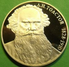 Buy Cameo Proof Russia 1988 Rouble~160th Anniversary - Birth of Leo Tolstoi~Free Shi