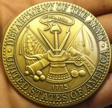 Buy Massive 63.5mm Solid Bronze Department Of The Army Medallion~Awesome~Free Ship