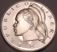 Buy Liberia 1973 10 Cents Proof~11,000 Minted~Rare