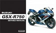 Buy 2008-2009-2010 Suzuki GSX-R750 Service Manual on a CD