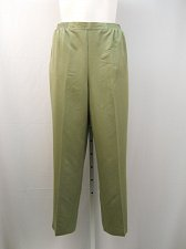 Buy Causal Pants Size 20 ALFRED DUNNER Olive Green Proportioned Medium Straight Legs