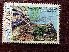 Buy Andorra Spanish 1v used stamp Michel 2001 Natural Heritage Landscapes