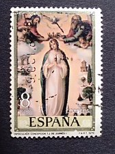 Buy Spain 1 v used stamp 1979 on Stamp Day Biblical Accounts | Paintings