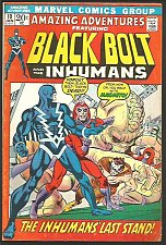 Buy Amazing Adventures #10 BLACK BOLT & the INHUMANS new story Conway 1972, KIRBY re