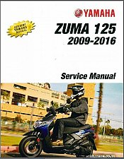 Buy 2009-2016 Yamaha Zuma 125 ( YW125 ) Scooter Service Manual on a CD