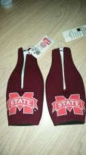 Buy (2) Mississippi State Bulldogs Zipper Bottle Koozies (405)
