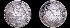 Buy 1894-A French Indo-China 1 Piastre World Silver Coin - Vietnam