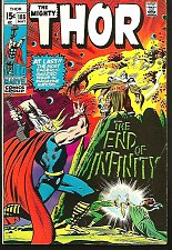 Buy THOR #188 The End of Infinity Stan Lee John Buscema 1971 ODIN
