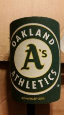 Buy (2) Oakland Athletics Round Can Coolers Coolie Koozie Neoprene New (405)